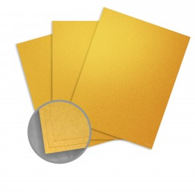 Stardream Fine Gold Card Stock - 8 1/2 x 11 in 105 lb Cover Metallic C/2S 100 per Package