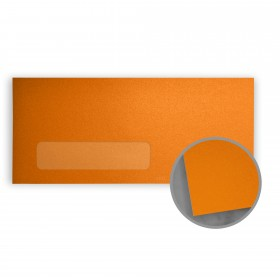 Stardream Flame Envelopes - No. 10 Window (4 1/8 x 9 1/2) 81 lb Text Metallic C/2S 500 per Box