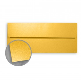Stardream Gold Envelopes - No. 10 Square Flap (4 1/8 x 9 1/2) 81 lb Text Metallic C/2S 500 per Box