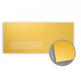 Stardream Gold Envelopes - No. 10 Window (4 1/8 x 9 1/2) 81 lb Text Metallic C/2S 500 per Box