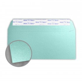 Stardream Lagoon Envelopes - No. 10 Commercial Peel & Seal (4 1/8 x 9 1/2) 81 lb Text Metallic C/2S 500 per Box