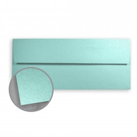 Stardream Lagoon Envelopes - No. 10 Square Flap (4 1/8 x 9 1/2) 81 lb Text Metallic C/2S 500 per Box