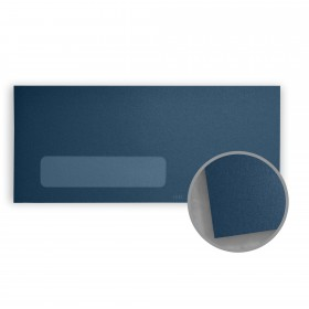Stardream Lapis Lazuli Envelopes - No. 10 Window (4 1/8 x 9 1/2) 81 lb Text Metallic C/2S 500 per Box