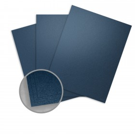 Stardream Lapis Lazuli Card Stock - 8 1/2 x 11 in 105 lb Cover Metallic C/2S 100 per Package