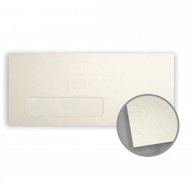 Stardream Opal Envelopes - No. 10 Window (4 1/8 x 9 1/2) 81 lb Text Metallic C/2S 500 per Box