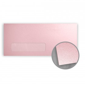 Stardream Rose Quartz Envelopes - No. 10 Window (4 1/8 x 9 1/2) 81 lb Text Metallic C/2S 500 per Box