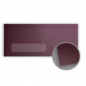 Stardream Ruby Envelopes - No. 10 Window (4 1/8 x 9 1/2) 81 lb Text Metallic C/2S 500 per Box