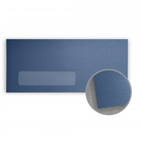 Stardream Sapphire Envelopes - No. 10 Window (4 1/8 x 9 1/2) 81 lb Text Metallic C/2S 500 per Box