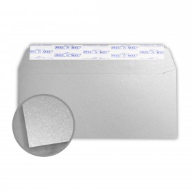 Stardream Silver Envelopes - No. 10 Commercial Peel & Seal (4 1/8 x 9 1/2) 81 lb Text Metallic C/2S 500 per Box