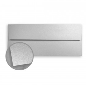Stardream Silver Envelopes - No. 10 Square Flap (4 1/8 x 9 1/2) 81 lb Text Metallic C/2S 500 per Box