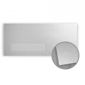 Stardream Silver Envelopes - No. 10 Window (4 1/8 x 9 1/2) 81 lb Text Metallic C/2S 500 per Box