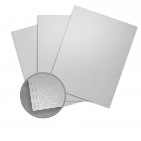 Stardream Silver Card Stock - 8 1/2 x 11 in 105 lb Cover Metallic C/2S 100 per Package