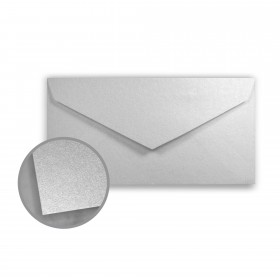 Stardream Silver Envelopes - Monarch (3 7/8 x 7 1/2) 81 lb Text Metallic C/2S 400 per Box
