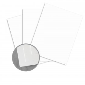 STARWHITE Sirius Card Stock - 8 1/2 x 11 in 80 lb Cover Smooth 250 per Package