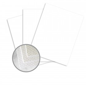 Strathmore Premium Grandee Bright White Card Stock - 26 x 40 in 100 lb Cover Felt  20% Recycled 300 per Carton