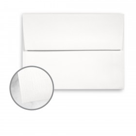 Strathmore Premium Cambric Bright White Envelopes - A7 (5 1/4 x 7 1/4) 70 lb Text Linen  30% Recycled 250 per Box