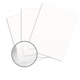 Strathmore Premium Cambric Bright White Card Stock - 35 x 23 in 80 lb Cover Linen  30% Recycled 500 per Carton