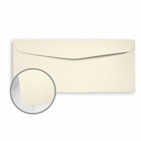 Strathmore Premium Cambric Ivory Envelopes - No. 10 Commercial (4 1/8 x 9 1/2) 24 lb Writing Linen  30% Recycled Watermarked 500 per Box