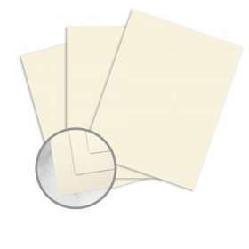 Strathmore Premium Cambric Ivory Card Stock - 35 x 23 in 80 lb Cover Linen  30% Recycled 500 per Carton