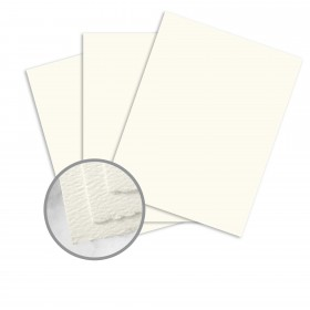 Strathmore Premium Pastelle Natural White Paper - 25 1/2 x 38 in 80 lb Text Felt Deckle 500 per Carton