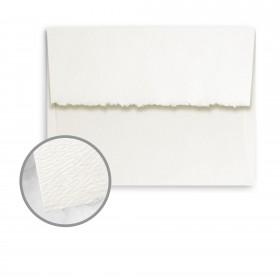 Strathmore Premium Pastelle Soft White Envelopes - A8 (5 1/2 x 8 1/8) 80 lb Text Felt Deckle 250 per Box