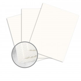 Strathmore Premium Pastelle Soft White Card Stock - 25 1/2 x 38 in 80 lb Cover Felt Deckle 300 per Carton