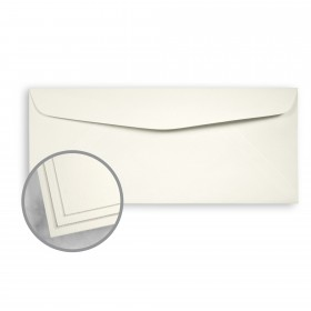 Strathmore Premium Pinstripe Natural White Envelopes - No. 10 Commercial (4 1/8 x 9 1/2) 24 lb Writing Smooth  30% Recycled Watermarked 500 per Box