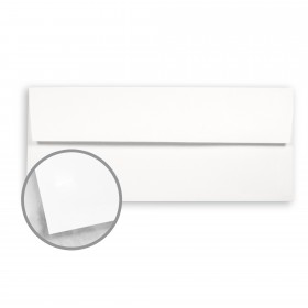 Strathmore Premium Smooth Bright White Envelopes - No. 10 Square Flap (4 1/8 x 9 1/2) 24 lb Writing Smooth  30% Recycled Watermarked 500 per Box