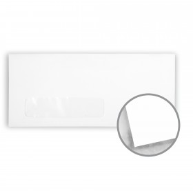 Strathmore Premium Smooth Ultimate White Envelopes - No. 10 Window (4 1/8 x 9 1/2) 24 lb Writing Smooth Watermarked 500 per Box