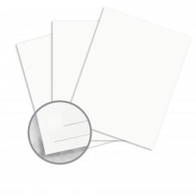Strathmore Premium Supersmooth Bright White Lines Card Stock - 26 x 40 in 110 lb Cover Super Smooth  30% Recycled 250 per Carton