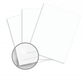 Strathmore Premium Supersmooth Soft White Lines Card Stock - 8 1/2 x 11 in 80 lb Cover Super Smooth  30% Recycled 250 per Package