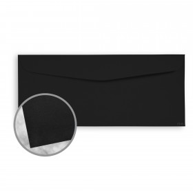 Strathmore Premium Wove Midnight Black Envelopes - No. 10 Commercial (4 1/8 x 9 1/2) 70 lb Text Wove  30% Recycled 500 per Box