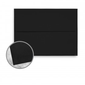 Strathmore Premium Wove Midnight Black Envelopes - A7 Square Flap (5 1/4 x 7 1/4) 70 lb Text Wove  30% Recycled 250 per Box