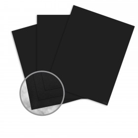 Strathmore Premium Wove Midnight Black Card Stock - 26 x 40 in 65 lb Cover Wove  30% Recycled 500 per Carton