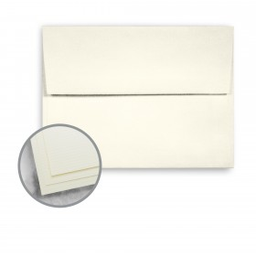 Strathmore Script Natural White Envelopes - A2 (4 3/8 x 5 3/4) 24 lb Writing Pinstripe Laid Horizontal Embossed  30% Recycled Watermarked 1000 per Carton