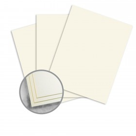 Strathmore Script Natural White Paper - 8 1/2 x 11 in 24 lb Writing Smooth  30% Recycled Watermarked 500 per Ream