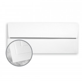Strathmore Writing Bright White Envelopes - No. 10 Square Flap (4 1/8 x 9 1/2) 24 lb Writing Wove  25% Cotton Watermarked 500 per Box