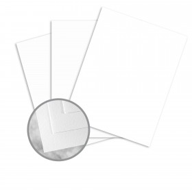 Strathmore Writing Recycled Bright White Paper - 8 1/2 x 11 in 24 lb Writing Wove  30% Recycled  25% Cotton Watermarked 500 per Ream