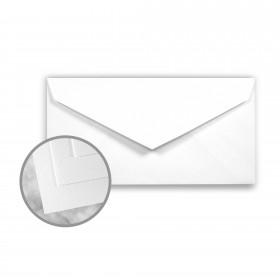 Strathmore Writing Bright White Envelopes - Monarch (3 7/8 x 7 1/2) 24 lb Writing Wove  25% Cotton Watermarked 500 per Box