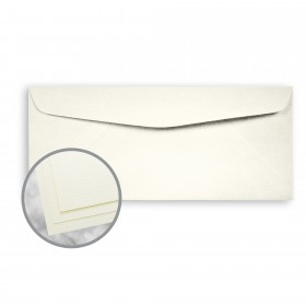 Strathmore Writing Ivory Envelopes - No. 10 Commercial (4 1/8 x 9 1/2) 24 lb Writing Laid  25% Cotton Watermarked 500 per Box