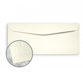 Strathmore Writing Ivory Envelopes - No. 10 Commercial (4 1/8 x 9 1/2) 24 lb Writing Wove  25% Cotton Watermarked 500 per Box