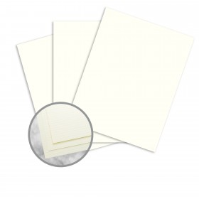 Strathmore Writing Natural White Paper - 8 1/2 x 11 in 24 lb Writing Laid  25% Cotton Watermarked 500 per Ream