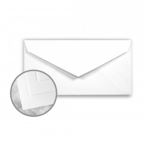 Strathmore Writing Platinum White Envelopes - Monarch (3 7/8 x 7 1/2) 24 lb Writing Wove  25% Cotton Watermarked 500 per Box