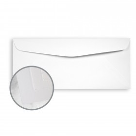 SuperFine Ultrawhite Envelopes - No. 10 Commercial (4 1/8 x 9 1/2) 24 lb Writing Eggshell 500 per Box