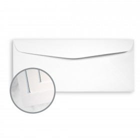 SuperFine Ultrawhite Envelopes - No. 10 Commercial (4 1/8 x 9 1/2) 80 lb Text Smooth 500 per Box