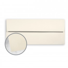 SuperFine White Envelopes - No. 10 Square Flap (4 1/8 x 9 1/2) 24 lb Writing Eggshell 500 per Box