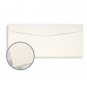Teton Warm White Envelopes - No. 10 Commercial (4 1/8 x 9 1/2) 80 lb Text Felt  100% Cotton 500 per Box