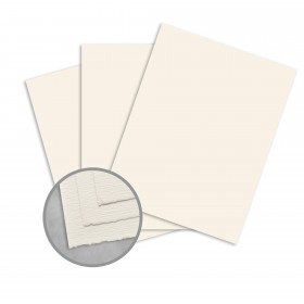 Teton Warm White Card Stock - 26 1/2 x 40 in 80 lb Cover Felt  100% Cotton 300 per Carton