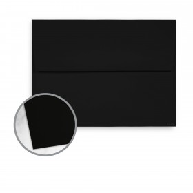 Tube Black Envelopes - A6 (4 3/4 x 6 1/2) 81 lb Text Soft Flat Matte C/1S 50 per Box