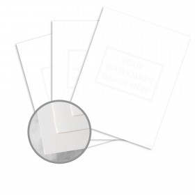 Via 25% Cotton Bright White Paper - 8 1/2 x 11 in 24 lb Writing Smooth  30% Recycled  25% Cotton Watermarked 5000 per Carton